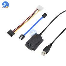 Cable adaptador SATA PATA IDE a USB 2,0 para disco duro 2,5/3,5, convertidor de DVD, línea de Cable