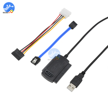 SATA PATA IDE USB 2.0 adaptörü veri kablosu için 2.5/3.5 sabit Disk sürücü DVD dönüştürücü kablosu hattı