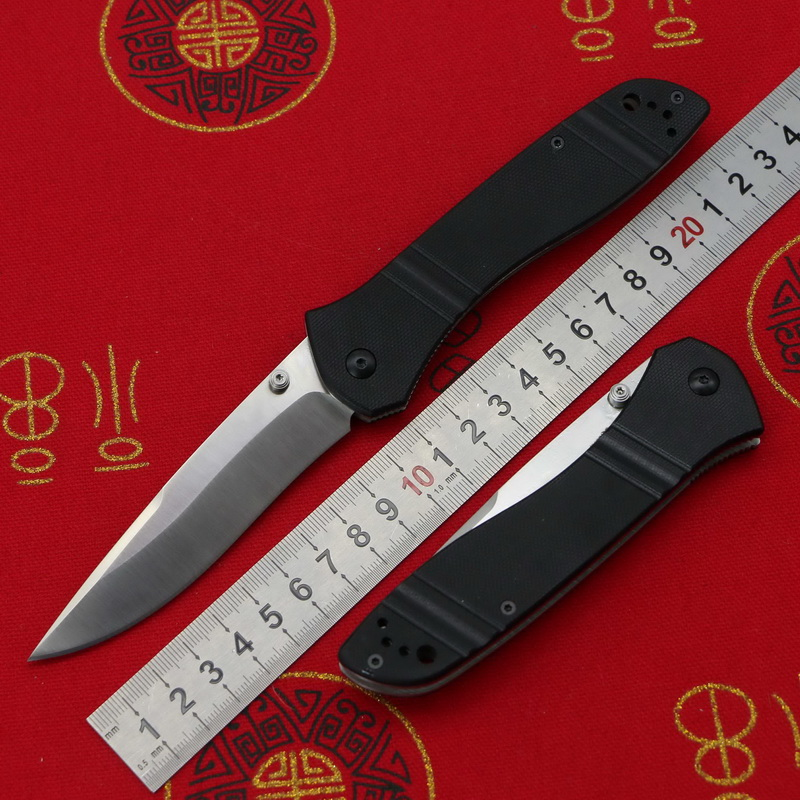 LOVOCOO New 710 Real D2 60HRC Blade G10 handle folding knife Pocket Survival EDC Tool camping