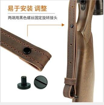 Hunting Rifle Gun Sling Tactical Genuine Leather Shoulder Strap for Shotgun Gun Accessories 5