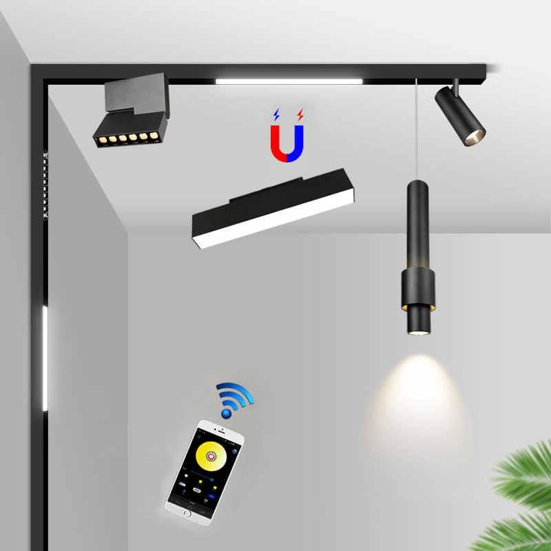 neue smart bluetooth dimmbare licht kreative led magnetische track lampe leuchte linear schiene beleuchtung oberflache montiert