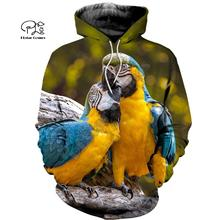 PLstar Cosmos Parrot Art Animal Tracksuit 3DPrint Hoodie/Sweatshirt/Jacket/shirts MenWomen Casual Harajuku camo colorful style-9