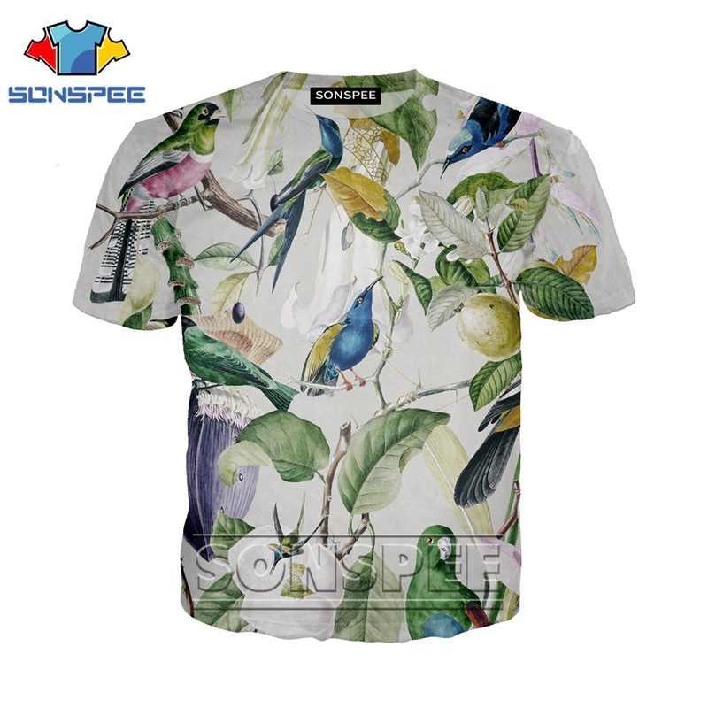 אנימה 3d הדפסת t חולצה streetwear תוכי גברים נשים פרח עשב בעלי החיים ציפור אופנה חולצה Harajuku ילדים חולצות homme חולצת טי a98