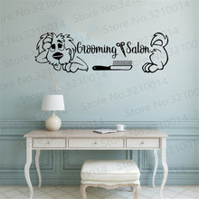 Grooming Salon Wall Decals. Comb. Scissors. Dog Decal. Decor. Sign. Decal  PW161