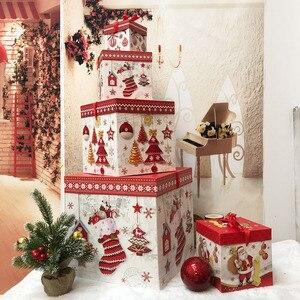 Снежинка, Рождественская конфетная коробка, подставка, подарок, рождественские фигурки, украшения, крафт-бумажные пакеты, Kerst Noel Treats packing