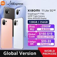 【World Premiere】Global Version Xiaomi 11 Lite 5G NE Smartphone 128/256GB ROM Snapdragon 778G Octa Core 64MP Camera 90Hz Display 1