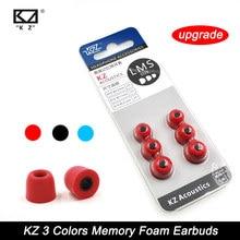 KZ – écouteurs confortables en mousse à mémoire de forme, 3 paires (6 pièces), oreillettes d'origine, nouvelle mise à niveau