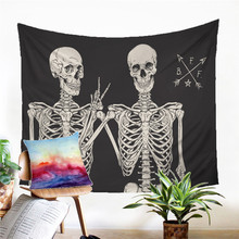 A Skull Tapestry Wall Hanging Sandy Beach Picnic Rug Camping Tent Sleeping Pad Home Decor Bedspread