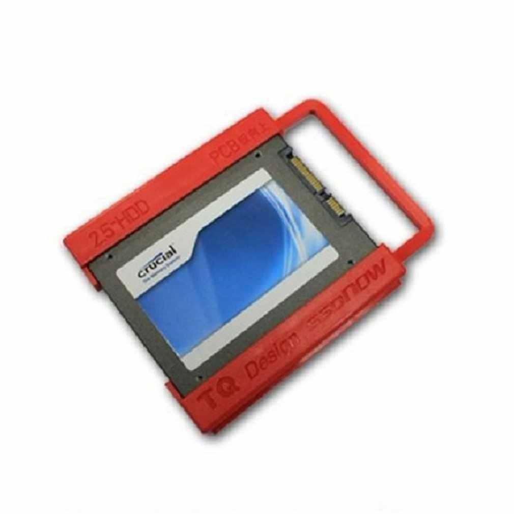 PlasticSSD صينية 2.5 بوصة إلى 3.5 بوصة SSD HDD محول قوس حامل القرص الصلب ل حاسوب شخصي مكتبي