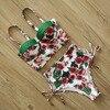 Mujer High Patterned Print Waist Bikini Set 13