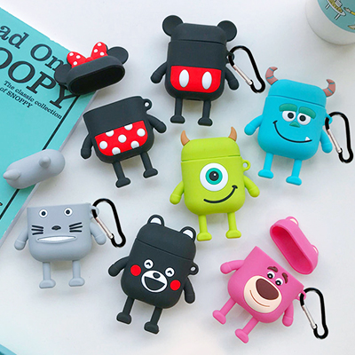 Cartoon Cute Box Wireless Bluetooth Headset Case For Apple Airpods 1 2 Earphone Silicone Soft Cover For Airpods Protective Cases