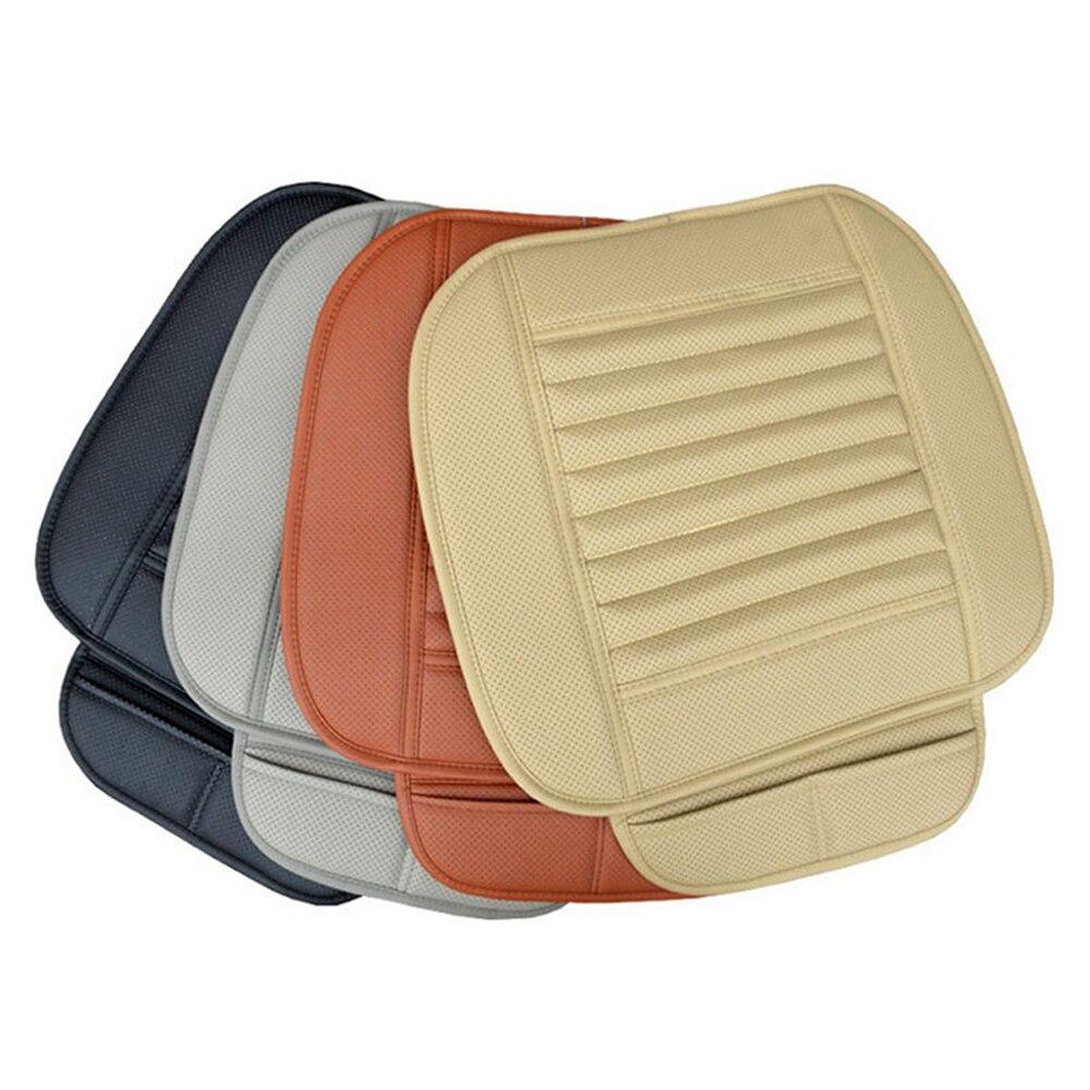 Чехол для автомобильного сиденья, четыре сезона, передняя Подушка, дышащий бамбуковый защитный коврик, коврик из искусственной кожи для авт... - 4