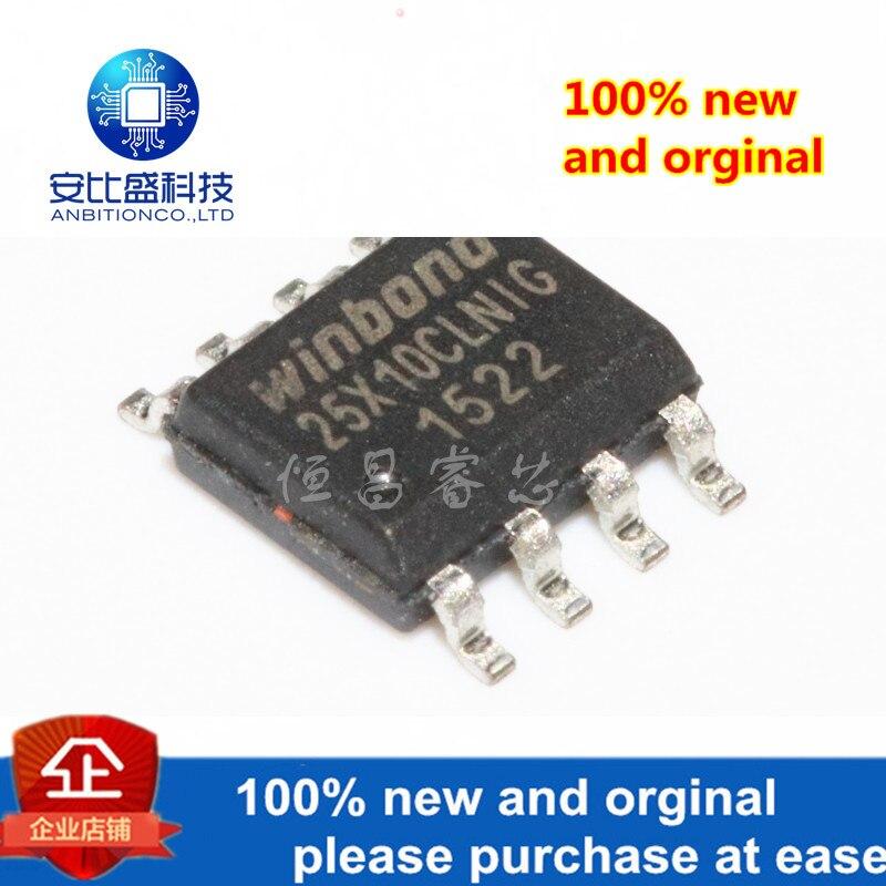 10pcs 100% New And Orginal W25X10CLSNIG Silk-screen 25X10CLNIG 1Mbits SOP8 In Stock