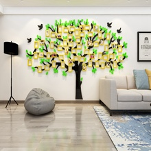 3D Stereo Wall Sticker Acrylic Removable Crystal Mirror Home Decor Mirrored Decorative