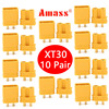 10 Pairs Amass XT30U XT30 Upgrade Male Female Plug Connector Adapters for FPV RC Racing Drone  Lipo Battery ESC Accessory