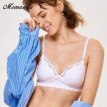 موماندا الأمومة المرأة حمالة صدر للرضاعة القطن الحوامل الصدرية النوم الرضاعة الطبيعية الملابس الداخلية