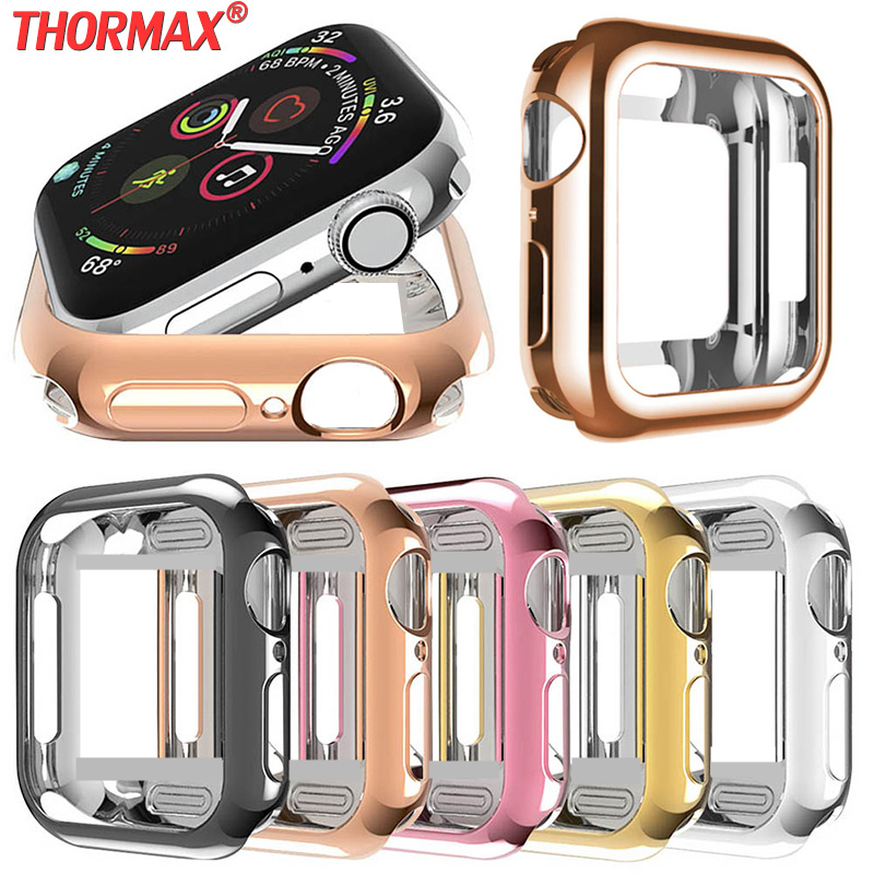 Soft Tpu Watch Case For Apple Watch Cover Protective Bumper Shell 40mm 44mm 38mm 42mm Strong Apple Watch Case Watch Accessories