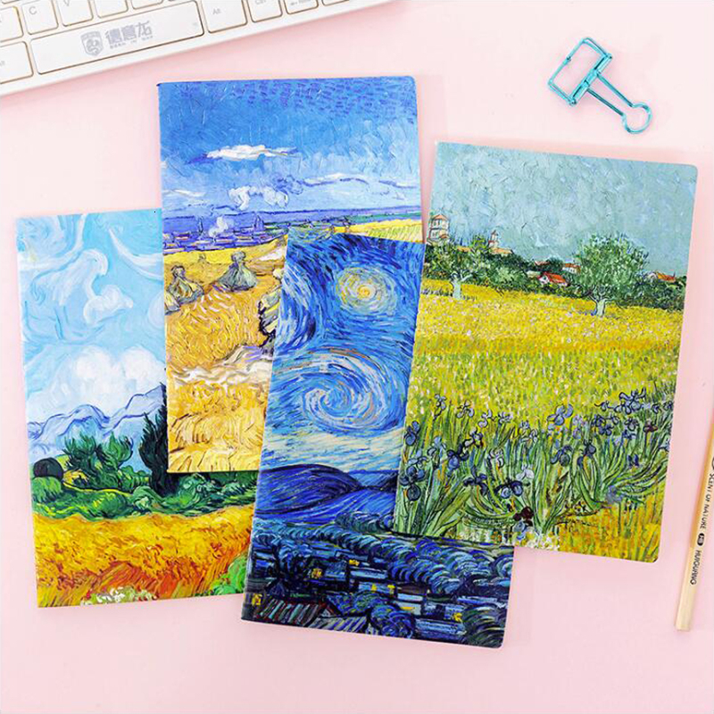 Van Gogh Oil Painting Series A5 Notebook Colorful Notepad Office Stationery And School Supplies 30Sheets
