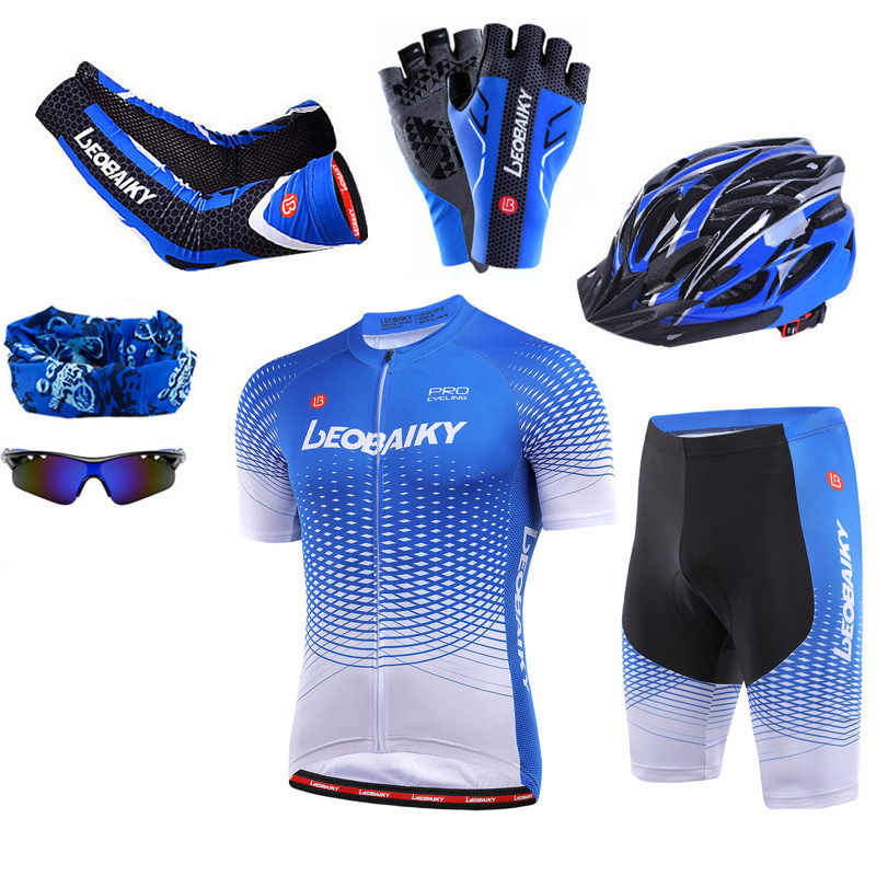 Summer Mens Cycling Short Sleeves Jersey MTB Outdoor Sports Pro team ropa B91