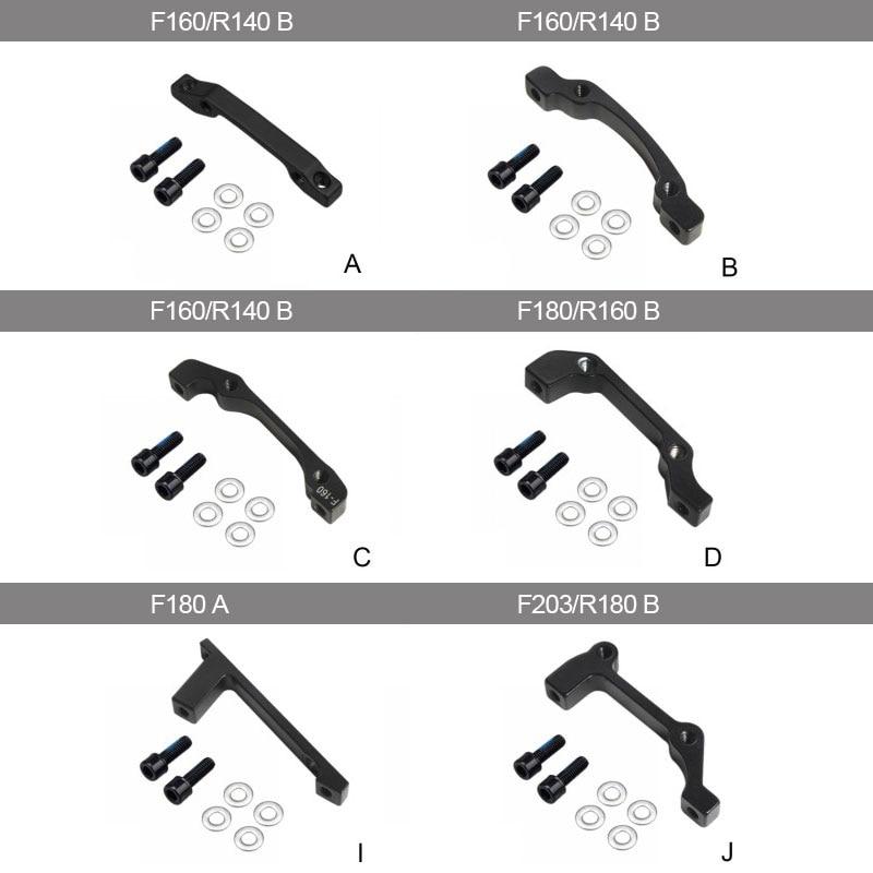 MTB Bicycle Disc Brake Bike Caliper Mount Adapter Front Calip 160/180/203mm Rear 140/160/180mm Accessoreis