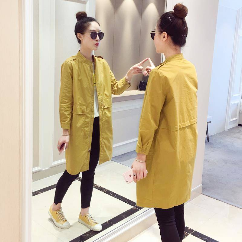 Spring Trench Coat Casual Trench Coat Women Windbreakers Loose Trench Coat Plus Size Cotton Overcoat Women Coats And Coat