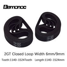 3D printer belt GT2 closed loop rubber 2GT timing 1140 1220 1250 1340 1350 1360 1512 1524mm length width 6mm free shipping