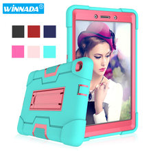 Case for Samsung Galaxy Tab A 8.0 2019 SM T290 T295 T297 Shock Proof full body Kids Children Safe non-toxic tablet cover(China)