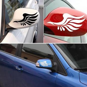 1 Pair Wing Style Car Truck Rearview Mirror Decal Reflective Sticker Decoration image