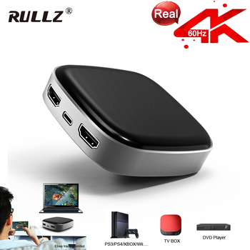 Rullz 4K 60hz 1080P Full HD Video Recorder HDMI To TYPE C USB 3.0 Game Record Video Capture Card F Mac Windows PC Live Streaming