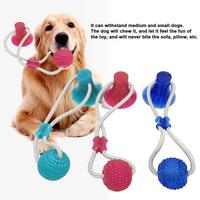 Multifunction Pet Molar Bite Dog Molar Chew Toy Rubber Chew Ball Cleaning Teeth Ball Elasticity Puppy Suction Cup Dog Biting Toy