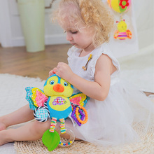 Newborns Baby Rattle Mobiles Toys Pram Bed Stroller Hanging Stuffed Soft Plush Animal Appease Teether 0-24 Months Gift