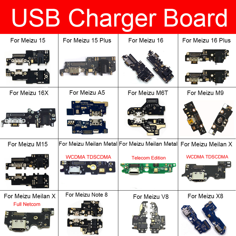 Usb Charger Jack Prot Board For Meizu Meilan Note 8 V8 X X8 Metal A5 M6T M9 M15 15 16 16X Plus Chargring Plug Dock Board