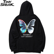 Pullover Hoodie Sweatshirt Streetwear Harajuku Fleece Hip-Hop Autumn Butterfly Winter