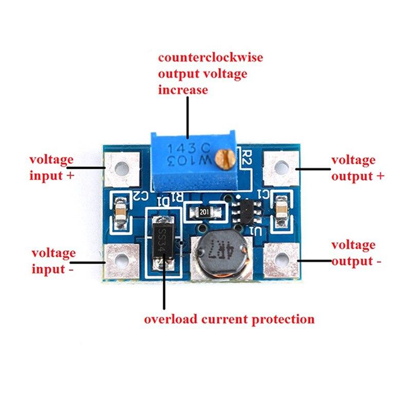 5PCS DC-DC SX1308 2 A Converter Step-up réglable Module de Puissance Booster