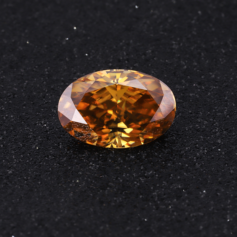 Starszuan Champagne Color Moissanite Best Price of 8*12mm 4ct Oval Cut Moissanite Gemstone for Fashion Jewelry