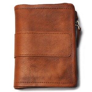 Image 2 - TAUREN nowy portfel damski portfele na monety męska portmonetka skórzany damski zamek błyskawiczny Design z kieszonkami na monety krótki Walet