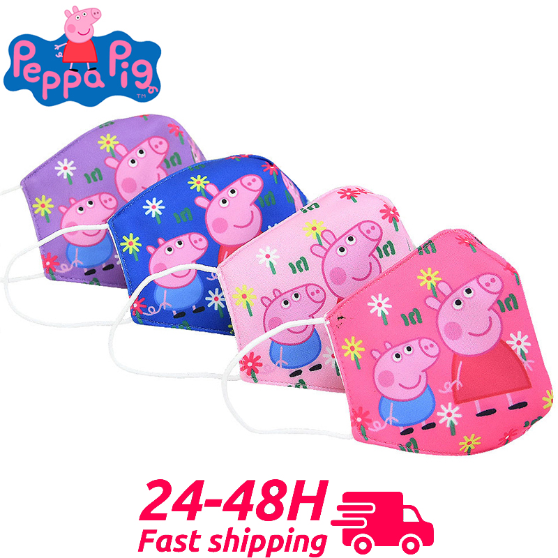 Peppa Pig Half Muffle Face Mask Anti Pollution Mask Dust Respirator Washable Reusable Boys Girl Masks Cottons Mouth Gift
