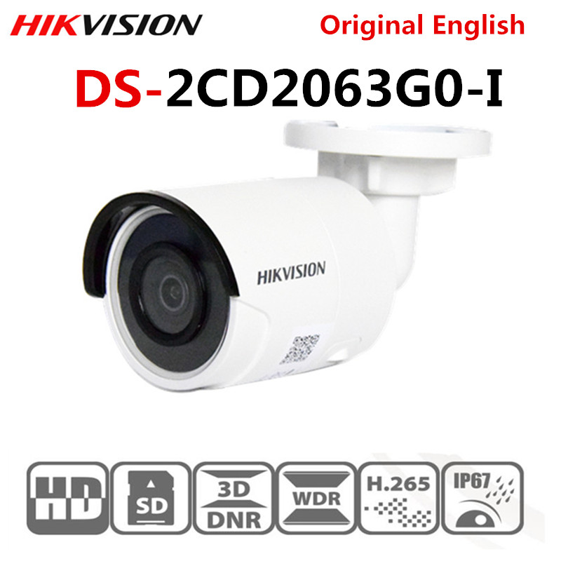 Caméra IP d'origine Hikvision 6MP DS-2CD2063G0-I IR30m caméra IP extérieure mise à niveau EZVIZ P2P POE H.265 étanche IP67