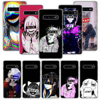 LEWD Sad Anime Aesthetic Senpai san Case for Samsung Galaxy S20 Ultra Note 10 9 8 S10E S9 S8 J4 J6 J8 Plus + Pro S7 S6 Soft Phon