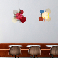 Novel Idea LED Multicolored Acrylic Pendant Lights Lighting Nordic Fashion Child Room Bedroom Restaurant Hanging Light Fixtures