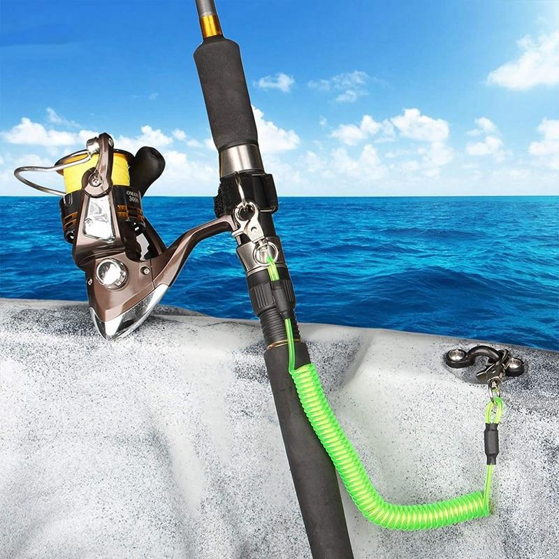Fishing T2 Fishing Tool Lanyard Heavy Duty Coiled Lanyard 15cm Maximum 5 Colors