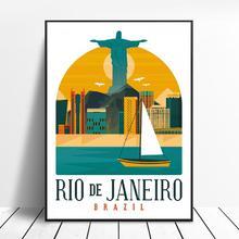 Retro Vintage Rio Brasil lienzo impresión pared arte cartel imagen dormitorio moderno salón decoración sin marco