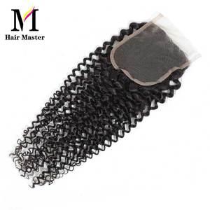 Image 2 - שיער מאסטר ברזילאי מתולתל גל סגירת רמי שיער טבעי סגירת 4x4 טבע צבע קרלי סגירת משלוח חינם