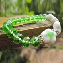 Green/Blue/Purple Color Trendy Ceramic Beaded Bracelets Women Handmade Crystal Charm Bracelet Ladies Jewelry Best Gift YBR115