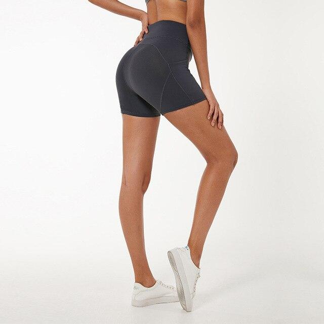 $ US $15.42 Nepoagym LEAF Women Workout Shorts High Waisted Short Leggings Compression Shorts Women Yoga Shorts Women Athletic Shorts