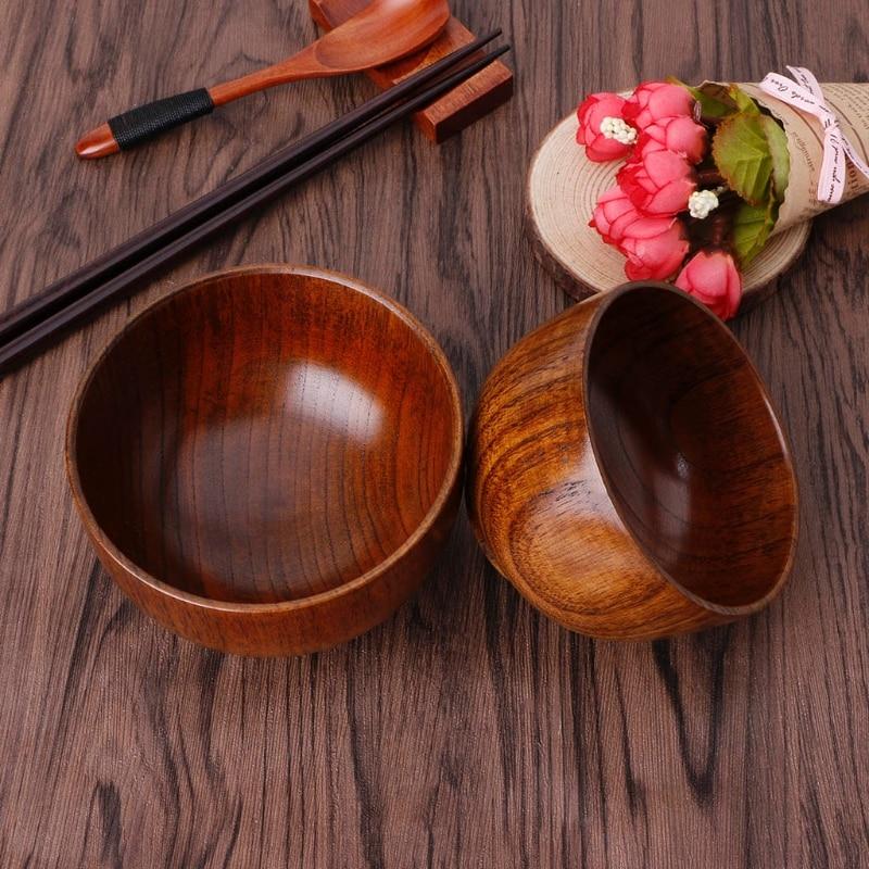 Натуральное дерево ююба миска для рисового супа Еда Containter Кухня посуда L5YE|Чаши|   | АлиЭкспресс