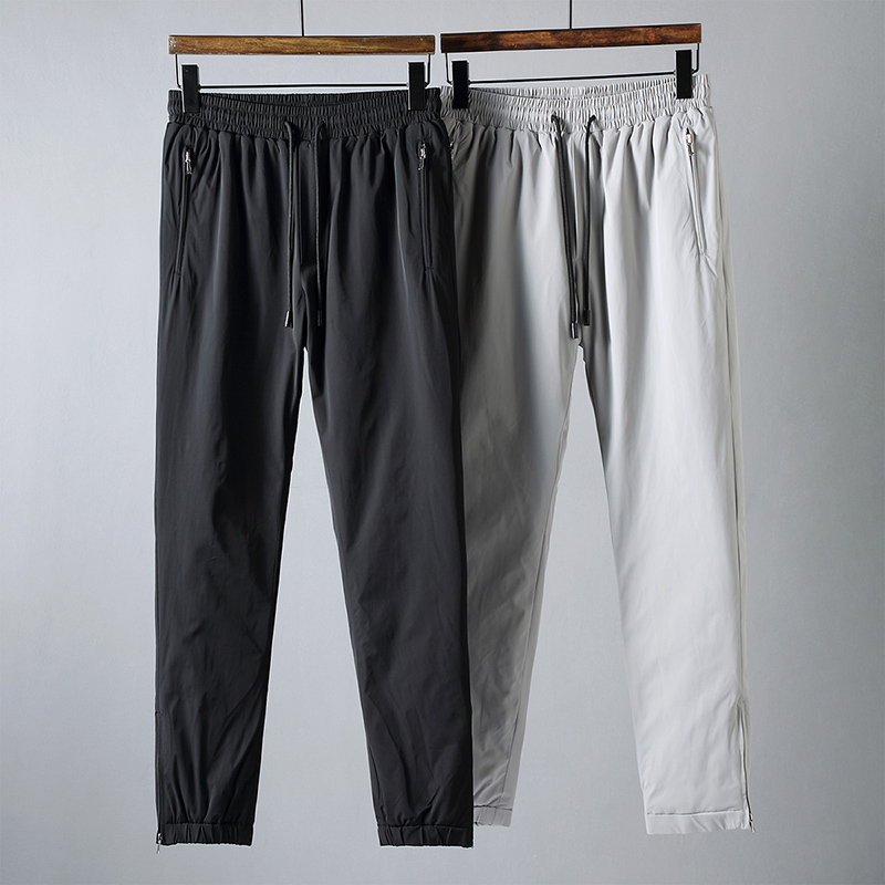 JSBD Winter High-end Zipper Pocket Cotton-padded Trousers With Adjustable Breeches To Keep Warm