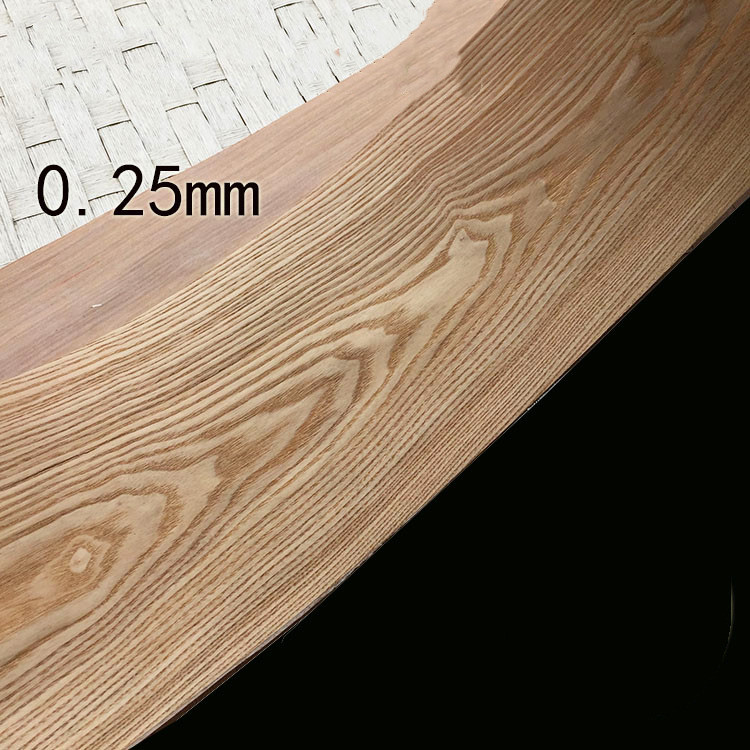 Natural Genuine Chinese Ash FC Wood Veneer For Furniture Backing With Tissue About 20cm X 2.2m 0.25mm Thick C/C