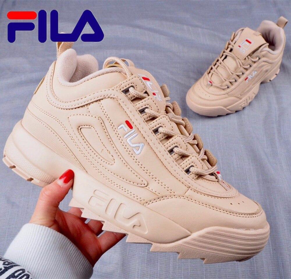 FILA Sneaker unisexe hommes WOWEN'S rose or couleur chaussures de course antidérapant en plein air chaussures de course taille 36-44