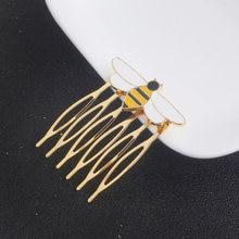 Anime abelha cabelo usar cor de ouro pente de cabelo meninas feminino festa anime esmalte cabelo cosplay traje jóias